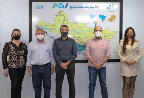 Prefeito Luciano Almeida se reúne com Agência das Bacias PCJ