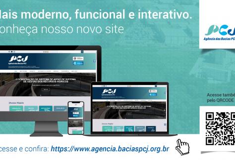 Agência das Bacias PCJ lança novo site no dia 28