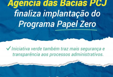 Agência das Bacias PCJ finaliza implantação do programa Papel Zero